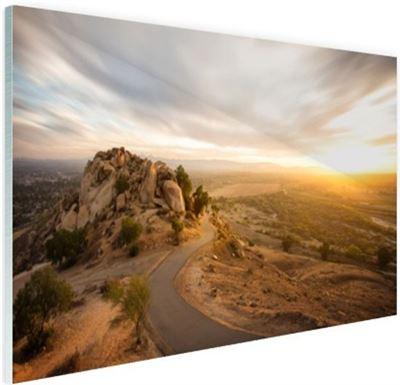 Wanddecoratie Op Glas.Fotocadeau Nl Woestijnslandschap Glas 120x80 Cm Foto Print Op Glas