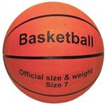 Basketbal oranje, maat 7 rubber official size