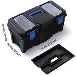 GR INTERNATIONAL Gereedschapskoffer 22 inch – 55 cm Praktische gereedschapskoffer voor thuis en onderweg