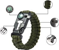 30f9f6a0d725a9 campingwise ® survival paracord armband met 5 functies in groen
