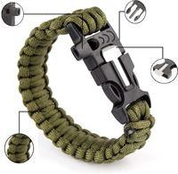 e7c49db264c303 campingwise ® survival paracord armband met 4 functies in groen