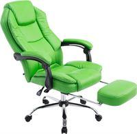 Clp Managerstoel CASTLE, met voetsteun, ergonomisch, kunstlederen bekleding - groen