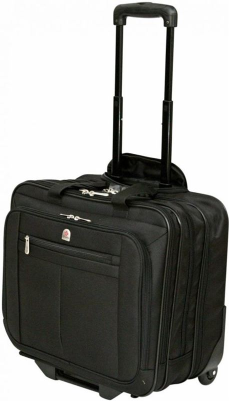 Tassia Lombard Executive 17 Laptop Trolley Briefcase - Pilotcase - Laptop Trolleykoffer LT066