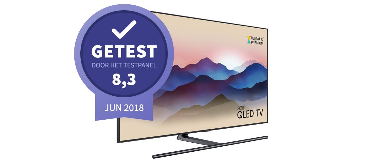 resultaat van de Samsung QLED televisie