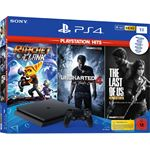 Sony PlayStation 4 1TB + The Last of Us + Uncharted 4 + Ratchet & Clank zwart