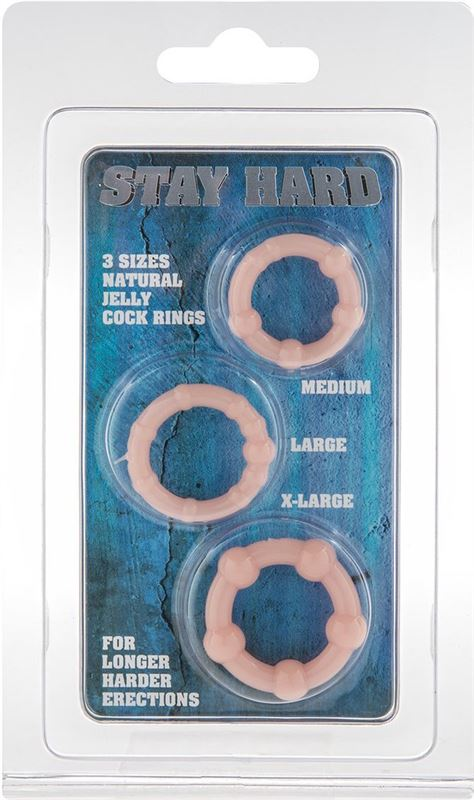 Eros Stay Hard Cock Rings Natural Jelly