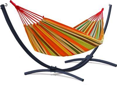 2 Persoons Hangmat Met Standaard.Potenza Grande Premium Onverwoestbare Verzinkte Tweepersoons Hangmatset 2 Persoons Hangmat Met Standaard
