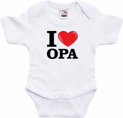 Babykleding 80.Shoppartners Wit I Love Opa Rompertje Baby Babykleding 80 9 12
