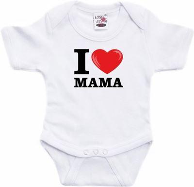 Babykleding 56.Shoppartners Wit I Love Mama Rompertje Baby Babykleding 56 1 2