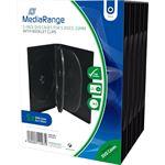 MediaRange DVD-Videobox 21mm 5dvd zwart 5 stuks