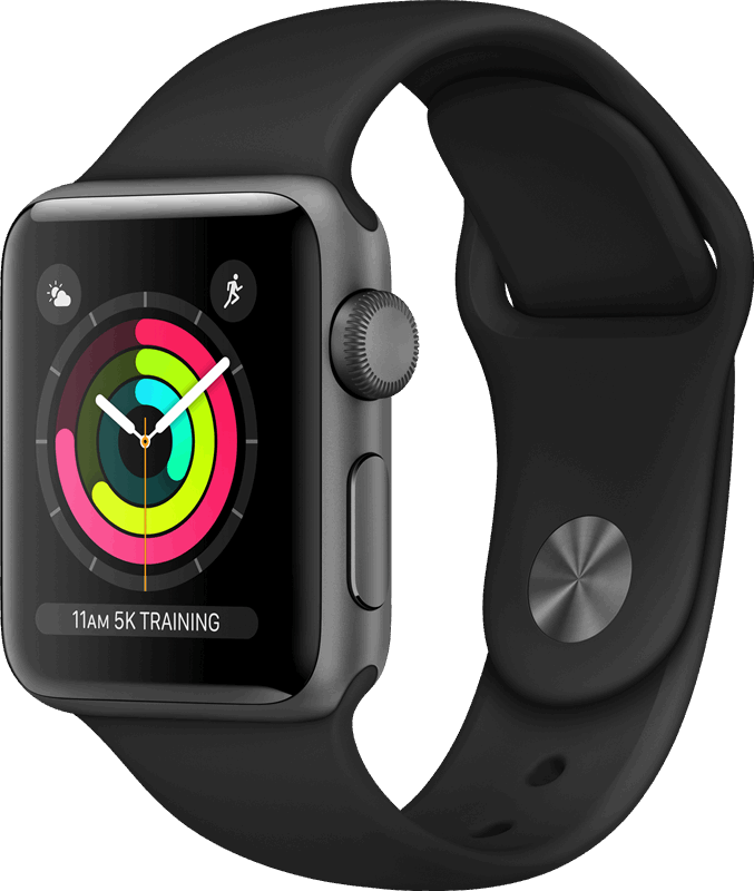 Apple 3 Watch Series 3 zwart / S|L