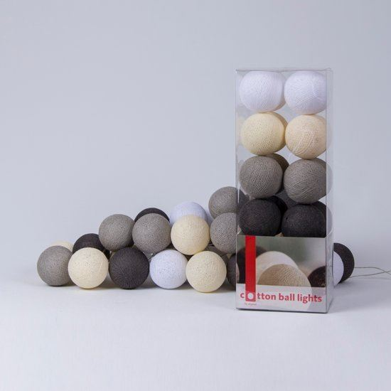 cotton ball lights the original cotton ball lights lichtslinger taupe 20 cotton balls bruin beige