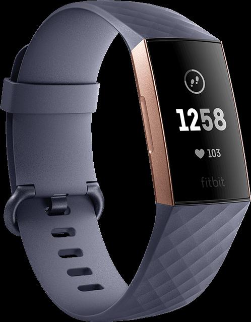 Fitbit Charge 3 grijs, Roségoud S L