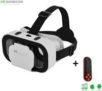 Shinecon ® 5.0 Pro - 3D Virtual Reality Bril IMAX 3D - Ingebouwde VR Hoofdtelefoon - IOS/Android + Premium VR Controller