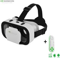 Shinecon ® 5.0 Pro - 3D Virtual Reality Bril IMAX 3D - Ingebouwde VR Hoofdtelefoon - IOS/Android + Premium VR Controller Neon