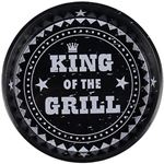 Zwarte metalen dienblad King of the Grill