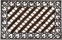 Relaxdays deurmat gietijzer borstels voetmat voetveger metaal welcome antiek E
