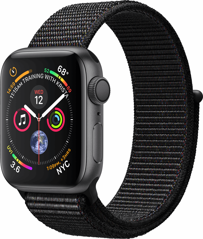 Apple 4 Watch Series 4 zwart, grijs / S|M