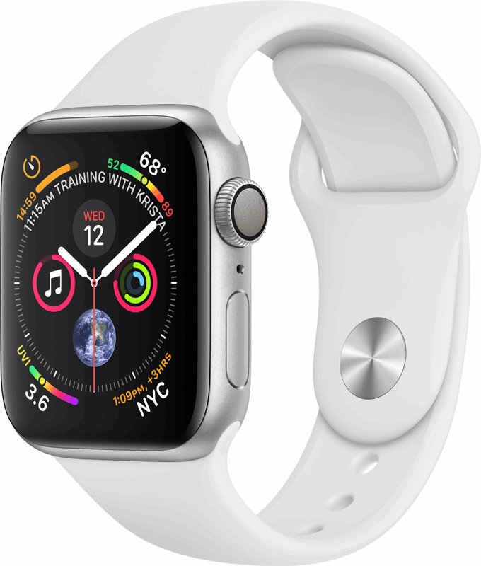 Apple 4 Watch Series 4 wit, zilver / S|L