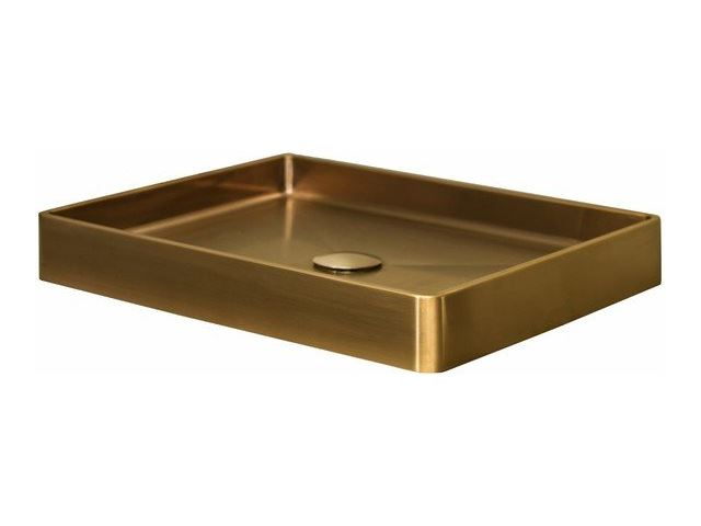 Lanesto vanity opbouwwastafel cm zonder kraangat light gold