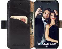 Bouletta Lederen Apple iPhone Xr Hoesje - Wallet Case - Pure Black