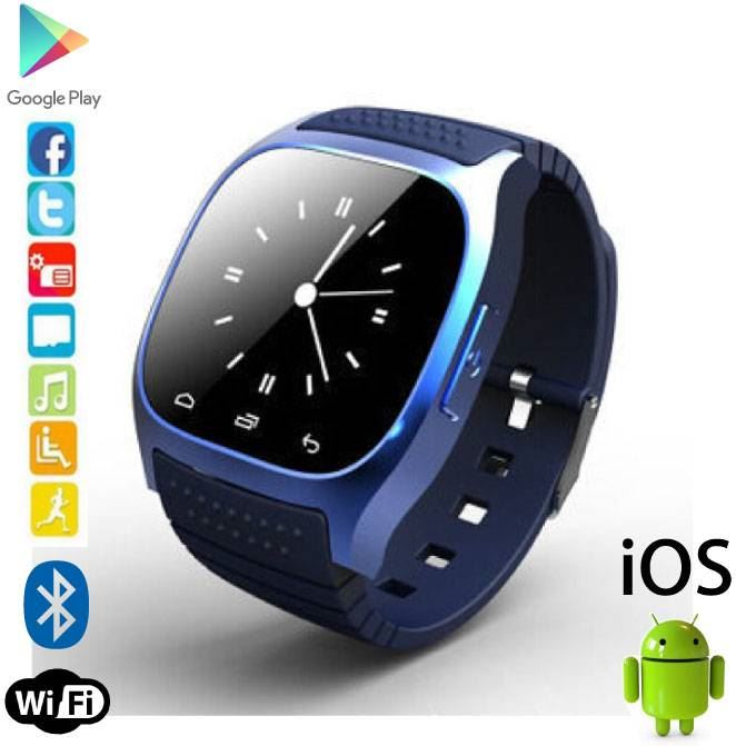 Stuff Certified M26 Smartwatch Smartphone Horloge OLED Android iOS Blauw