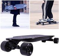 Cool&fun Cool & Fun Elektrisch Longboard 4-wiel Skateboard Elektrisch bord Off-Road LG-batterij met afstandsbediening Luipaard Zwart