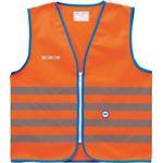 Wowow Veiligheidshesje kind met rits EN 1150 - Fun Fietsjas - Maat M - Unisex - oranje/blauw/zilver