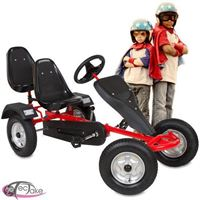Tectake Go Kart Gokart Skelter Trapauto rood 2 persoons 400771