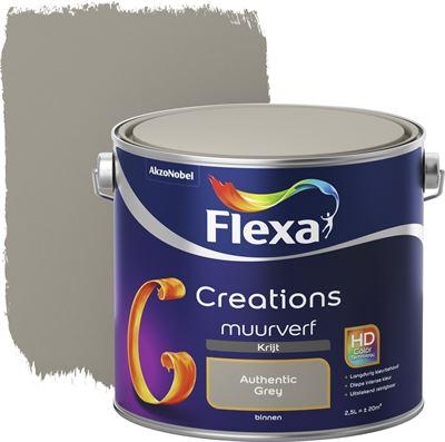 Magnifiek FLEXA Creations muurverf authentic grey krijt 2 5 liter kopen #SH38