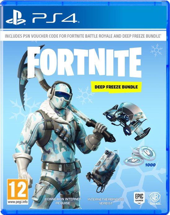 Warner Bros Games Fortnite: Deep Freeze Bundle - PS4 (Code in Box