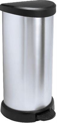 Curver Decobin Pedaalemmer 40 L Zwart.Curver Deco Bins Pedaalemmer 40 Liter Zilver Met Zwart Specificaties Kieskeurig Nl