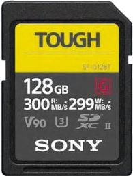 Sony SDHC 128GB Tough R300 W299 UHS-II CL10 U3 V90 SFG1TG
