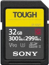 Sony SDHC 32GB Tough R300 W299 UHS-II CL10 U3 V90 SF32TG