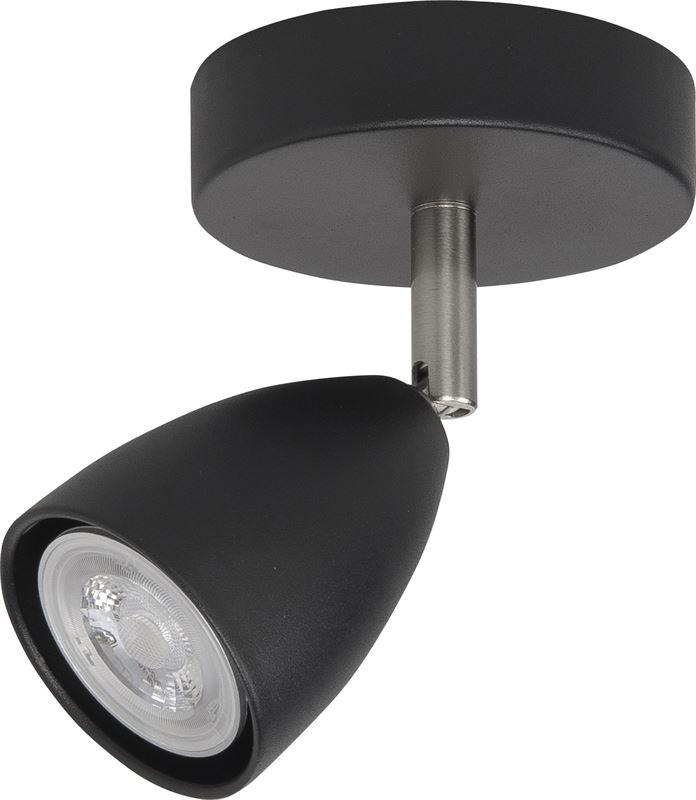 highlight spot malm zwart 1lichts gu10
