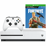 Microsoft Xbox One S 1TB + Fortnite zwart, wit