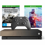 Microsoft Xbox One X 1TB + Battlefield V (Gold Rush Special Edition) zwart