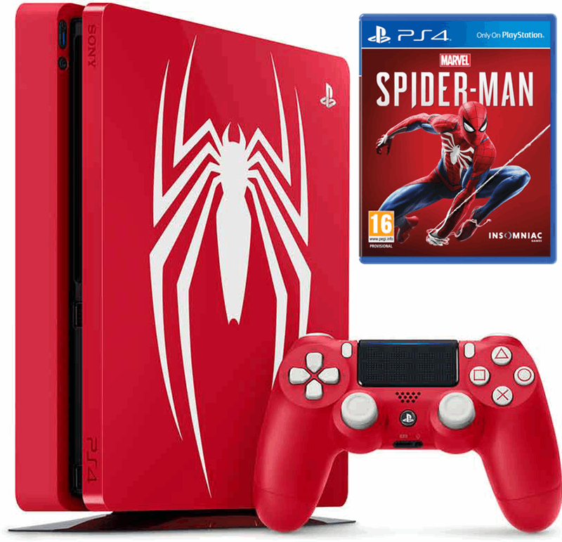 Sony PlayStation 4 Slim 1TB + Spider-Man rood