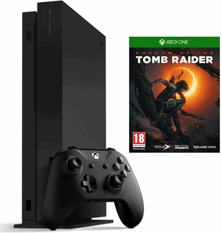 Microsoft Xbox One X 1TB + Shadow of the Tomb Raider zwart
