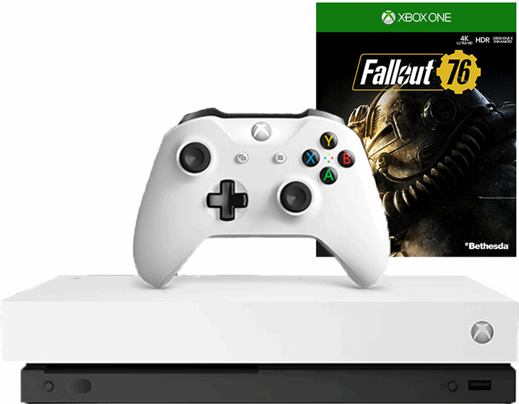 Microsoft Xbox One X 1TB + Fallout 76 (Robot White Special Edition) wit