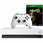 Microsoft Xbox One X 1TB + Fallout 76 (Robot White Special Edition)