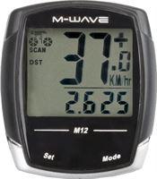 M-Wave Fietscomputer 12 Functies Zwart