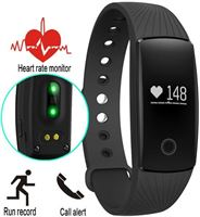 Smartwatch-Trends Activity Tracker SW107 met Hartslagmeter - Stappenteller - Calorieteller - Zwart - Pols 13 tot 20 cm