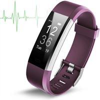 Smartwatch-Trends Activity Tracker met Hartslagmeter Paars Fitness Armband Hartslag Horloge Stappenteller Calorieteller Nieuw Model Maat Pols 14 cm tot 19 cm