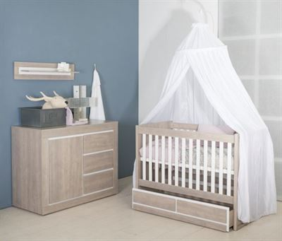Babykamer Wit Grijs.Babies First Babykamer Colorado 2 Delige Ledikant Commode