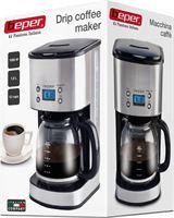 Beper Italia design koffiezet apparaat 12 kops met timer met geborsteld RVS behuizing