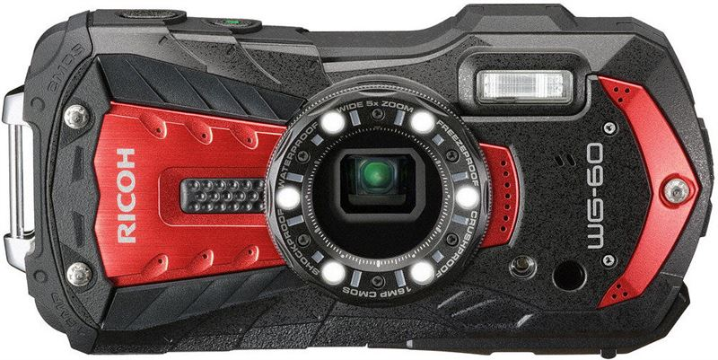 Ricoh WG-60 compact camera Rood