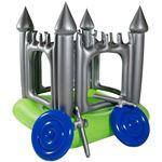 GS Quality Products Springkussen kasteel / springkasteel - 160x160x180cm - inclusief accessoires