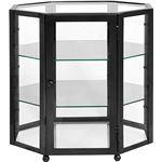 Nordal Displaybox/Vitrinekast Metaal/Glas Octangle Zwart - 55 x 56 cm