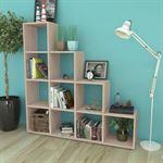 vidaXL Trapvormige boekenkast/schap 142 cm eikenkleurig